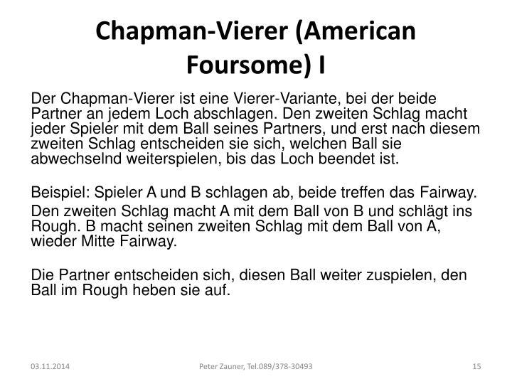 Chapman-Vierer (American