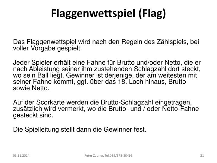 Flaggenwettspiel (