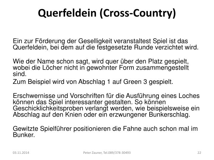 Querfeldein (Cross-Country)