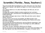 scramble florida texas teachers