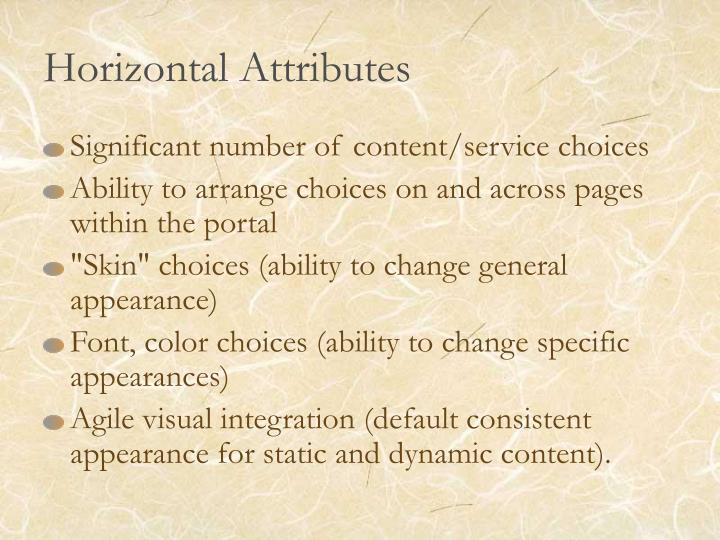 Horizontal Attributes