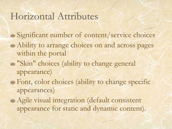 Horizontal Attributes