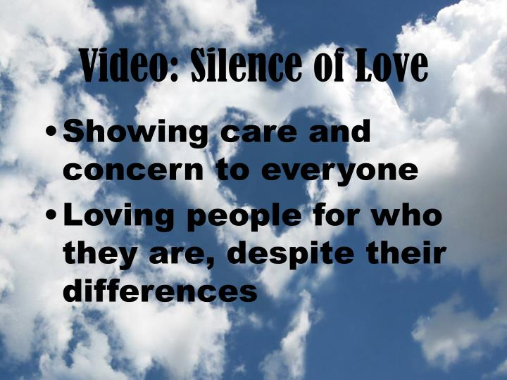 Video silence of love1