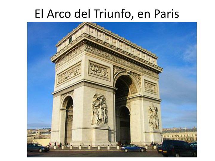 El Arco del Triunfo, en Paris