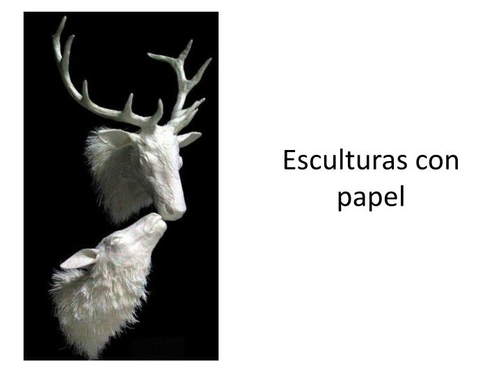 Esculturas con papel