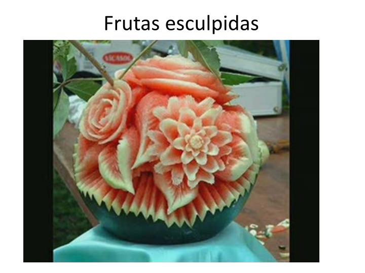 Frutas esculpidas
