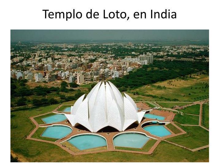 Templo de Loto, en India
