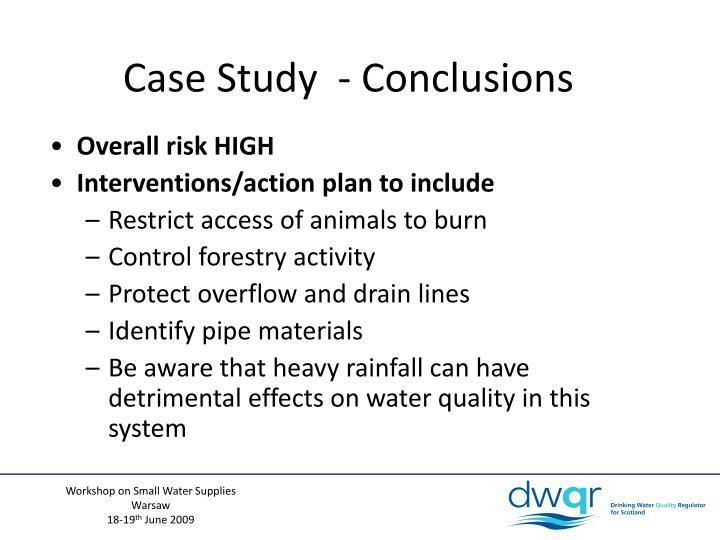 Case Study  - Conclusions