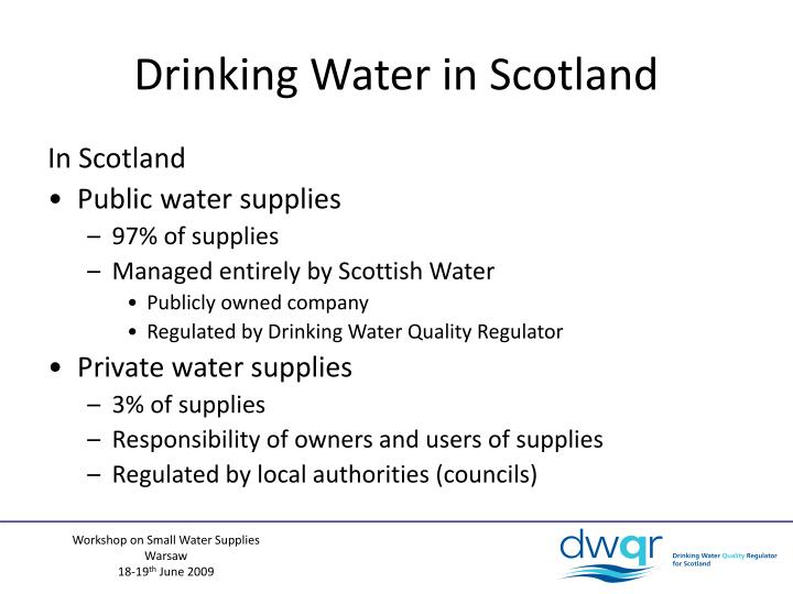 Drinking Water in Scotland