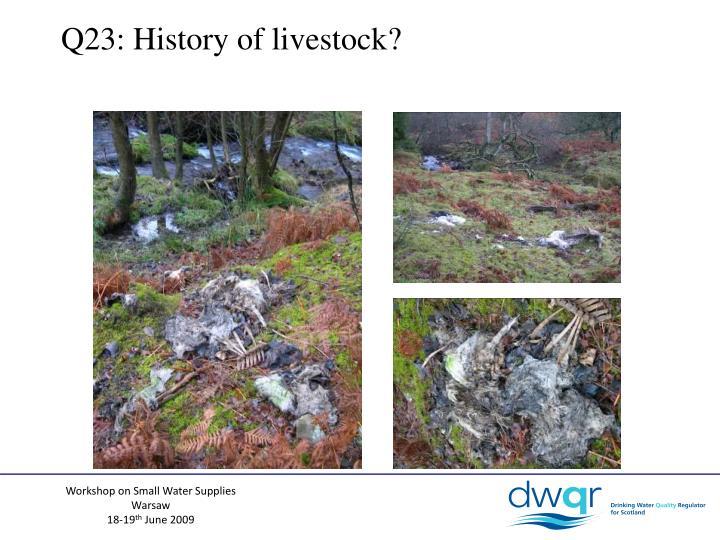 Q23: History of livestock?