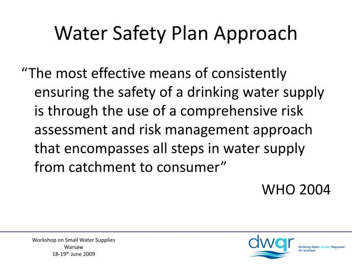 Water Safety Plan Approach