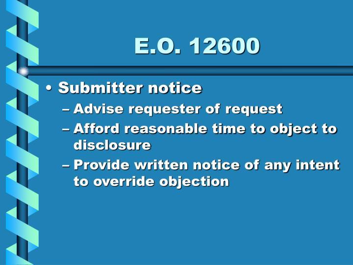 E.O. 12600