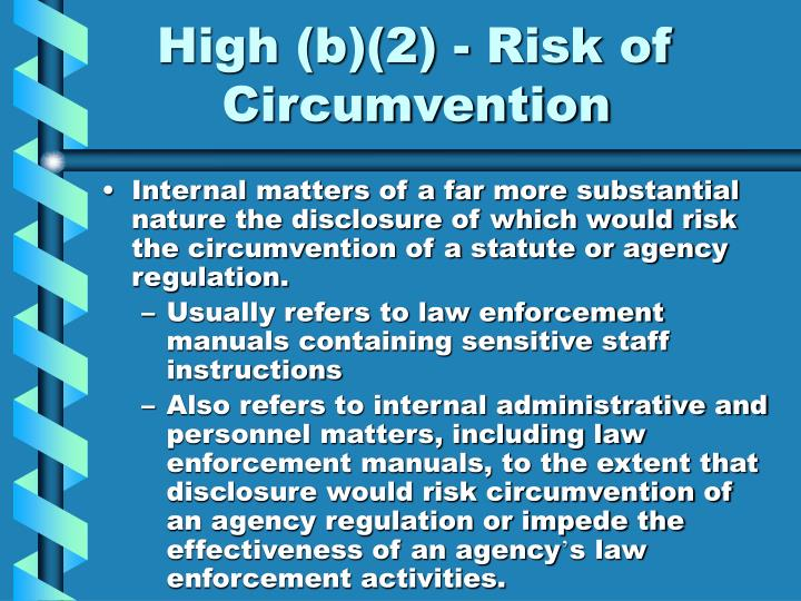 High (b)(2) - Risk of