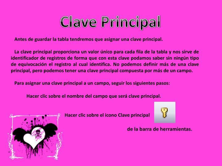 Clave Principal