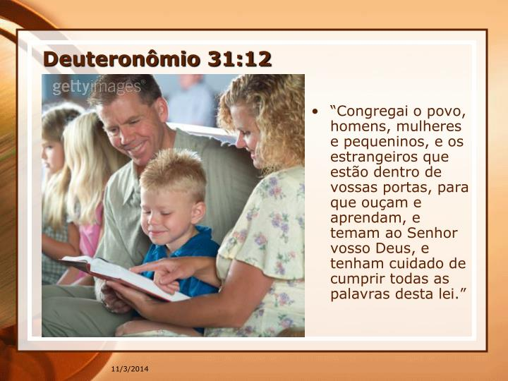 Deuteronmio 31:12
