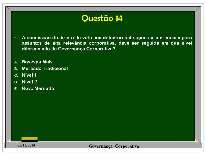 Questão 14