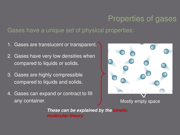 Properties of gases