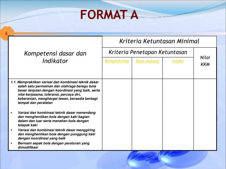 FORMAT A