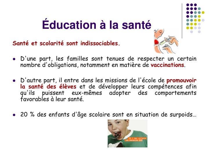 Éducation à la santé
