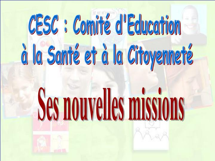CESC : Comité d'Education