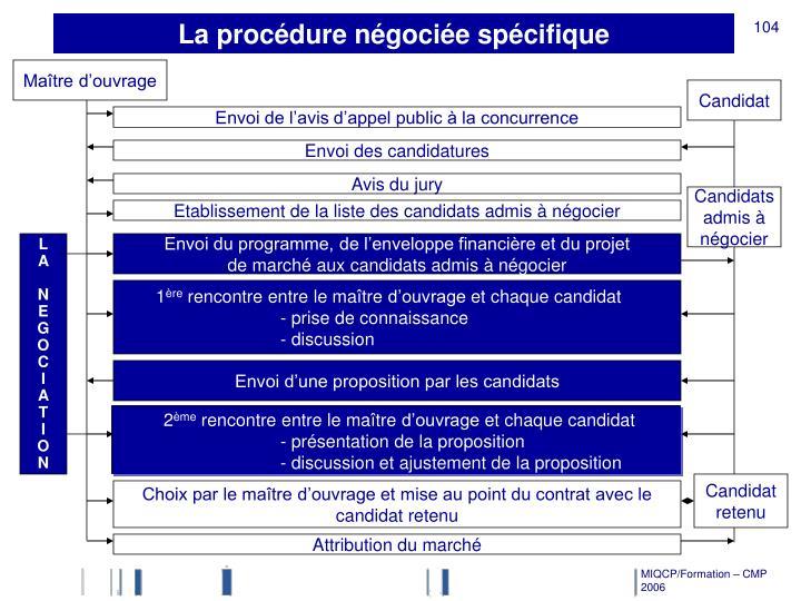 La procédure négociée spécifique