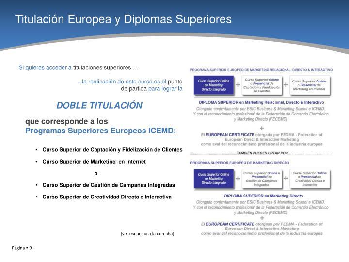 Titulación Europea y Diplomas Superiores