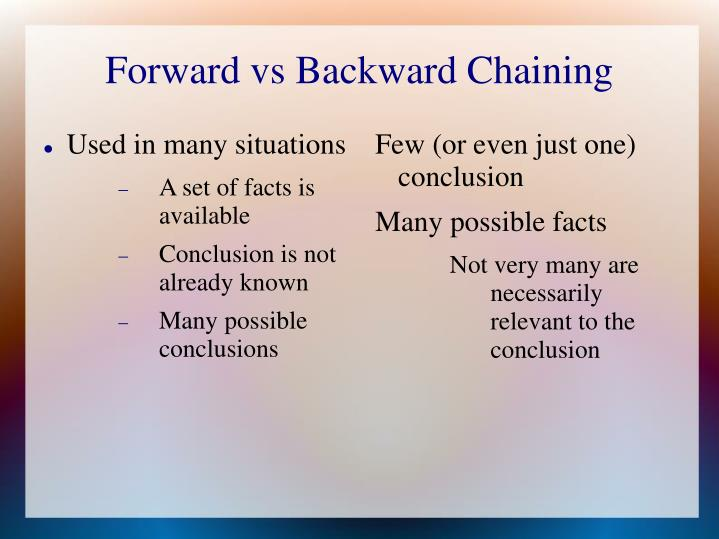 Forward vs Backward Chaining