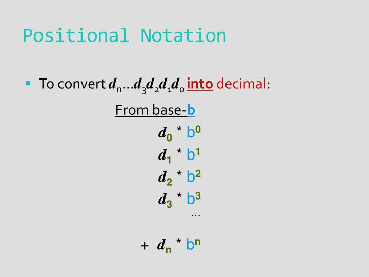 Positional notation