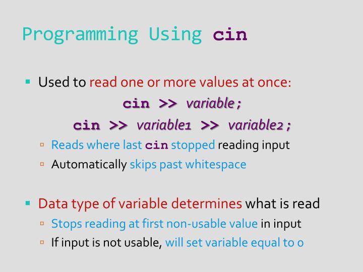 Programming Using