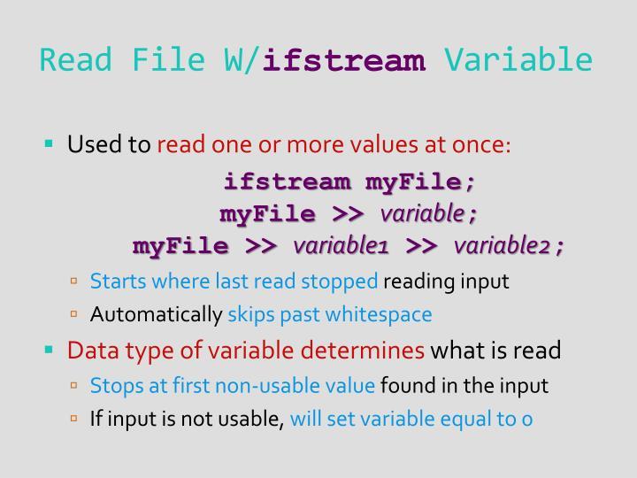 Read File W/