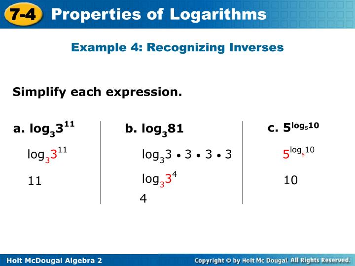 Example 4: Recognizing Inverses