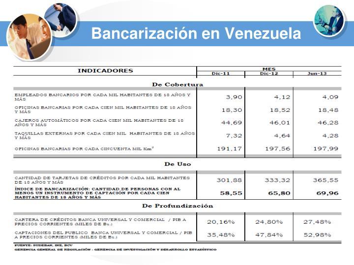 Bancarización en Venezuela