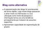 blog como alternativa