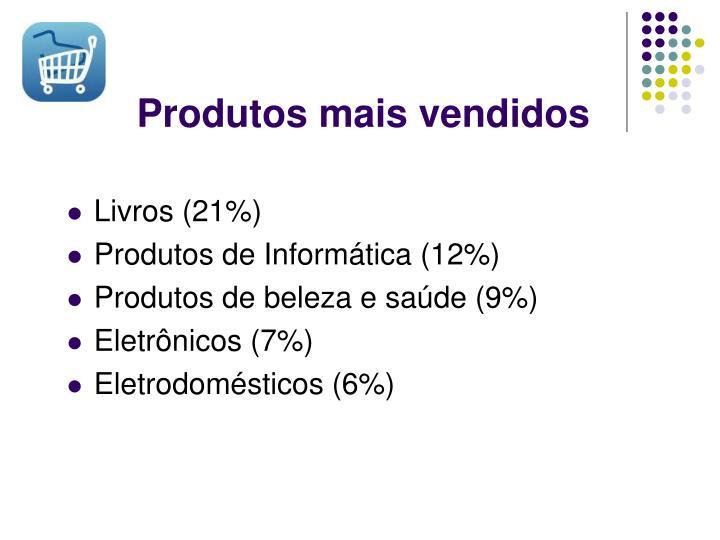 Produtos mais vendidos