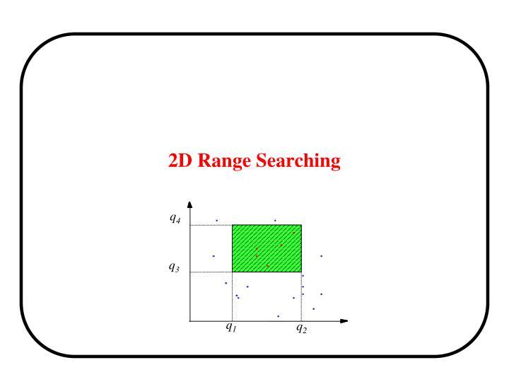 2D Range Searching