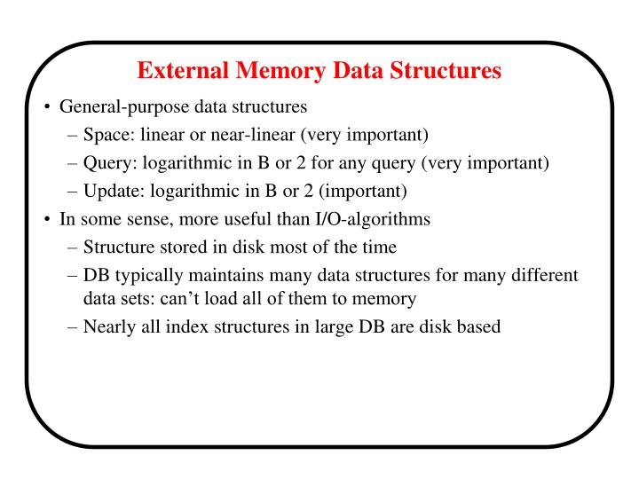External memory data structures1