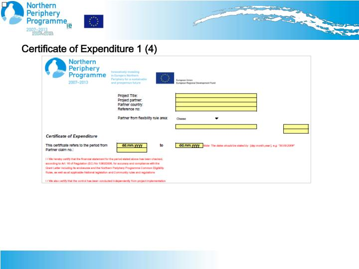 Certificate of Expenditure 1 (4)