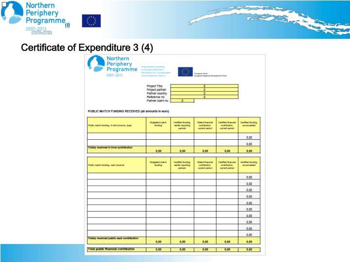 Certificate of Expenditure 3 (4)