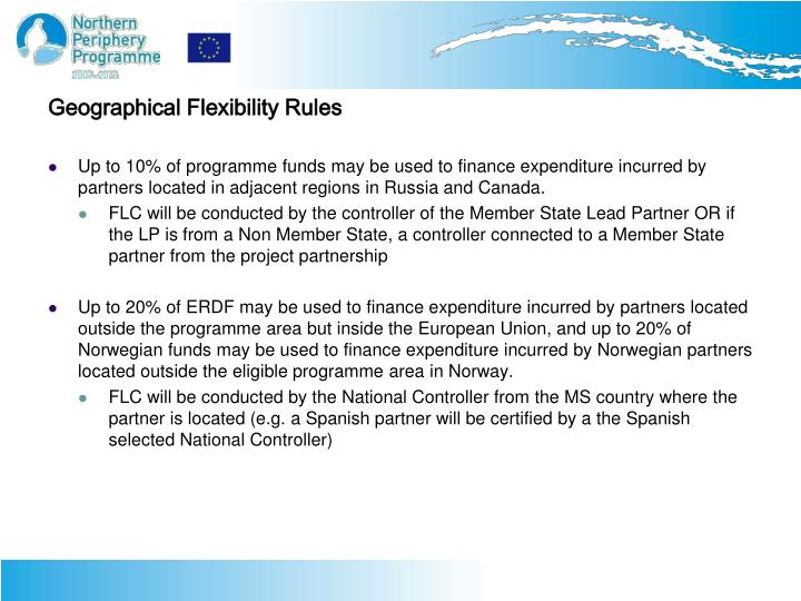 Geographical Flexibility Rules