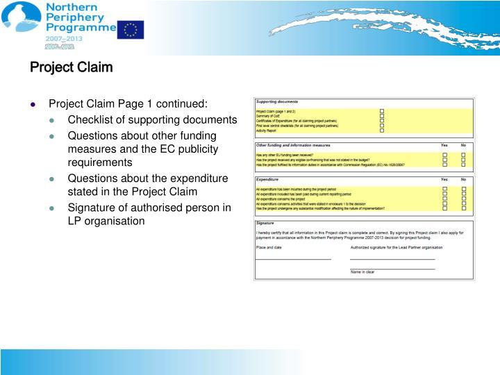 Project Claim