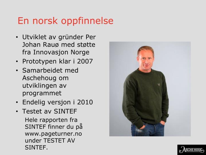 En norsk oppfinnelse