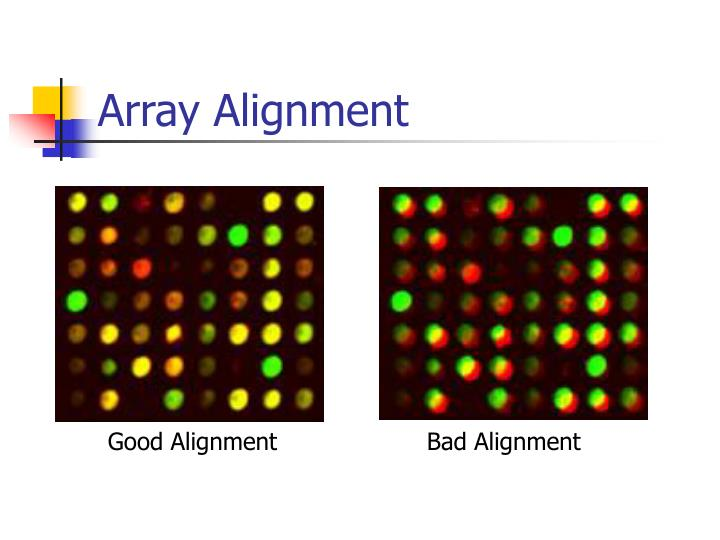 Array Alignment