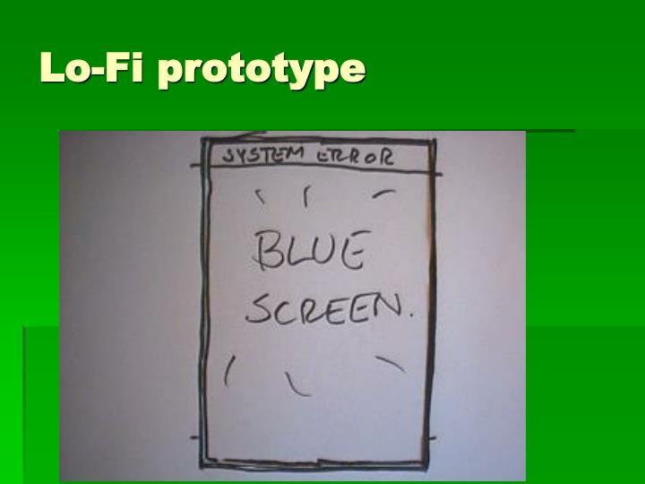 Lo-Fi prototype