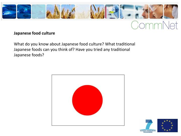 Japanese food culture