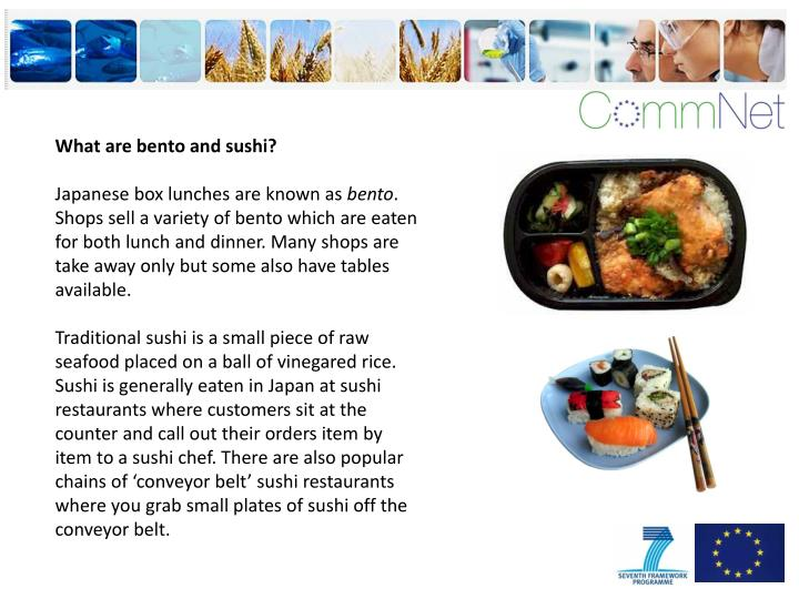 What are bento and sushi?