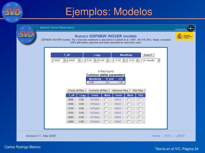 Ejemplos: Modelos
