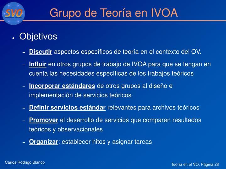 Grupo de Teoría en IVOA