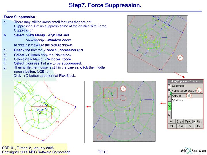 Step7. Force Suppression.