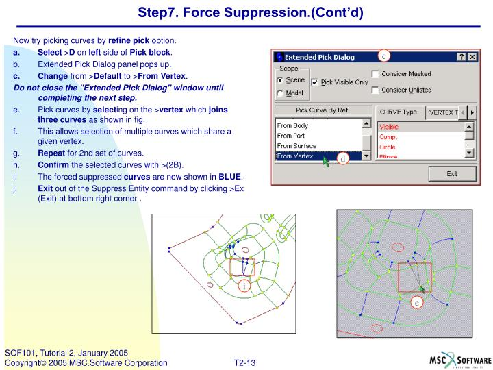 Step7. Force Suppression.(Cont'd)