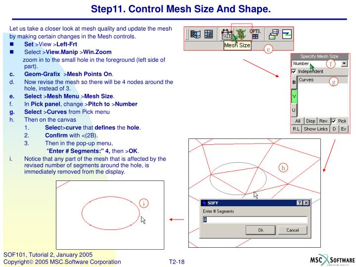 Step11. Control Mesh Size And Shape.
